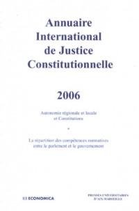 Annuaire International de Justice Constitutionnelle : Tome 22