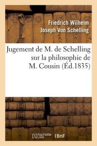 Jugement Philosophie de M  Cousin  ed 1835