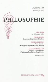 Philosophie n° 105
