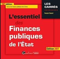Essentiel des Finances Publiques de l'Etat 2017, 18eme ed. (l')