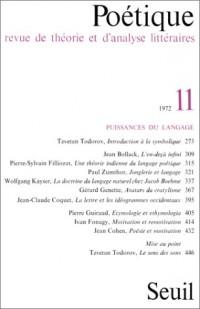 Poétique, numéro 11 : Puissances du langage