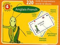 Cartes de vocabulaire Anglais-Français Niveau 4 (3ème-Lycée)