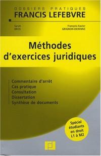 Méthodes d'exercices juridiques