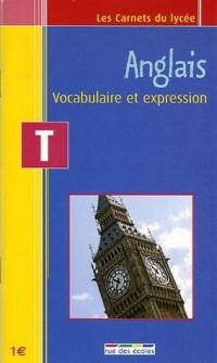 Anglais Tle : Vocabulaire et expression
