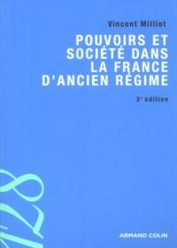 Pouvoirs et société dans la France de l'Ancien Régime