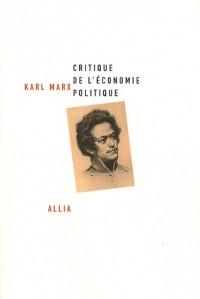 Critique de l'économie politique