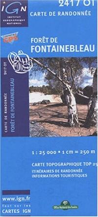 Carte de randonnée : Forêt de Fontainebleau