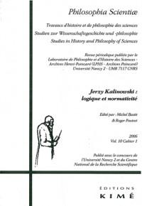 Philosophia Scientiae, Volume 10 - Cahier 1 : Georges Kalinowski