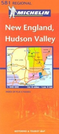 Carte routière : New England Hudson Valley, N° 11581 (en anglais)