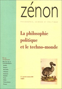 Zénon, N° 1 / Premier semes : La philosophie politique et le techno-monde