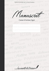 Manuscrit: Carnet d'écriture ligné