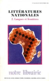 84- Littératures Nationales/ 2-Langues et Frontieres