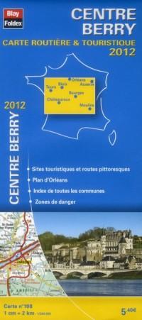 Centre - Berry, Carte Régionale Routiere Touristique N 108. Plan de Ville d'Orleans 1/200000