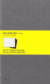 Cahier Gris Clair Gd Format Quadrille Set de 3