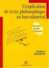 L'explication de texte philosophique au baccalauréat