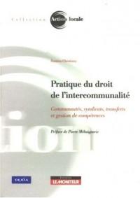 Pratique du droit de l'intercommunalité : Communautés, syndicats, transferts et gestion de compétences
