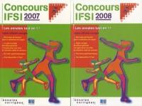 Concours IFSI 2007-2008 : Sujets officiels et corrigés Pack 2 volumes