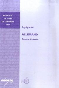 Agrégation allemand : Concours interne
