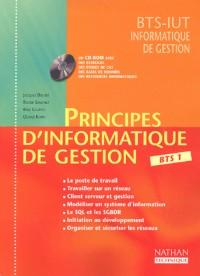 Principes d'informatique de gestion BTS 1 (1Cédérom)