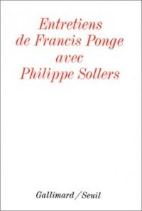 Entretiens avec Francis Ponge