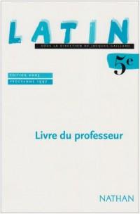 Latin 5ème : Livre du professeur