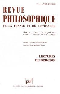 Revue philosophique, N° 2 (2008) : Lectures de Bergson