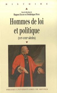Hommes de loi et politique (XVIe-XVIIIe siècles)