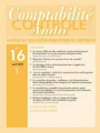 Revue Comptabilite Controle Audit T16 Vol 1