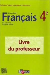 Français 4e : Livre du professeur