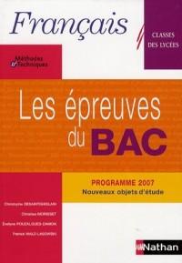 Les épreuves du Bac Français : Classes des lycées