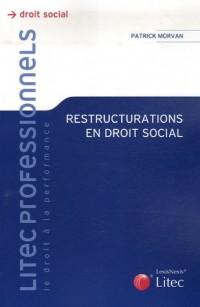 Restructurations en droit social (ancienne édition)