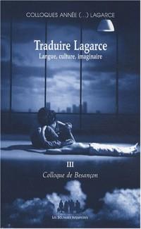 Traduire Lagarce : Langue, culture, imaginaire - Colloque de Besançon