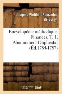 E  Finances  T  1  Abo Dup  ed 1784 1787