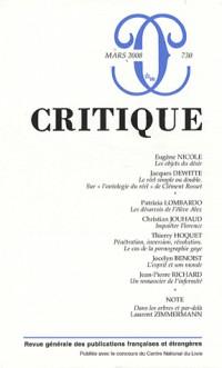 Critique, N° 730 :