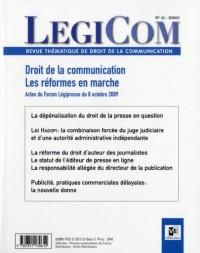 Legicom, N° 45, 2010/2 : Droit de la communication : les réformes en marche
