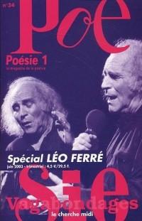 Revue Poésie 1 Vagabondages, numéro 34 : Spécial Léo Ferré