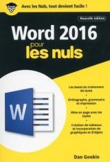 Word 2016 pour les Nuls poche, 2e édition [Poche]
