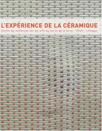 L'expérience de la céramique : Centre de recherche sur les arts du feu et de la terre, Craft, Limoges