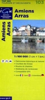 Amiens Arras : 1/100000