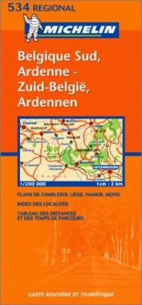 Carte routière : Belgique Sud, Ardenne - Zuid-België, Ardennen, N° 11534 (bilingue néerlandais-français)