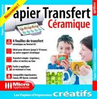 Papier transfert céramique - 4 feuilles de transfert au format A6