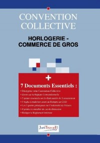3152. Horlogerie - commerce de gros Convention collective