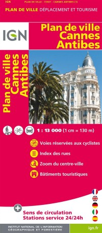 IGN - plan de ville: cannes antibes - 1:13000