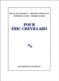 Pour Eric Chevillard