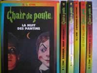 R. L. stine - lot 6 livres collection chair de poule : souhaits dangereux - danger chat méchant - la nuit des pantins - le fantome de la plage - le coup du lapin - l'attaque du mutant