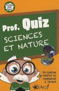 Prof. Quiz : Sciences et nature