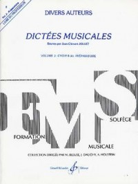 Dictées Musicales Volume 2 - Professeur