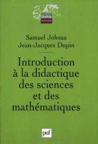 Introduction à la didactique des sciences et des mathématiques