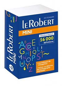 Dictionnaire Le Robert mini 2018