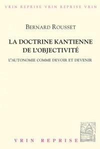 La doctrine kantienne de l'objectivité